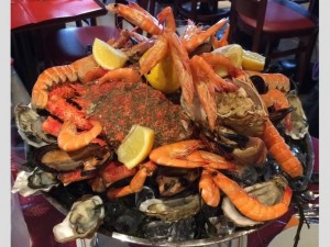 Coupe de fruits de mer