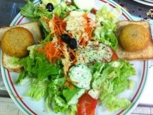 Crottin de chavignol Toast et Salade