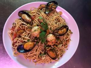 Spaghetti aux fruits de mer - Restaurant Pizzeria Au Père Tranquille