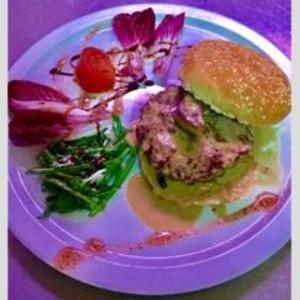 Hamburger au foie gras poêlé