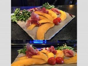 Melon au jambons