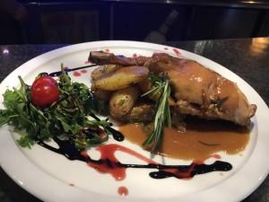 Jambonnette de lapin et sa sauce au foie gras